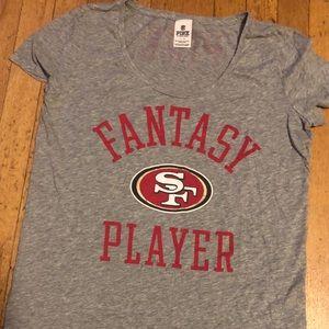 "VS Pink SF 49er Shirt ""Fantasy Player"""